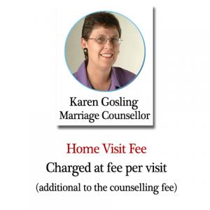 Karen Gosling counselling home visit fee